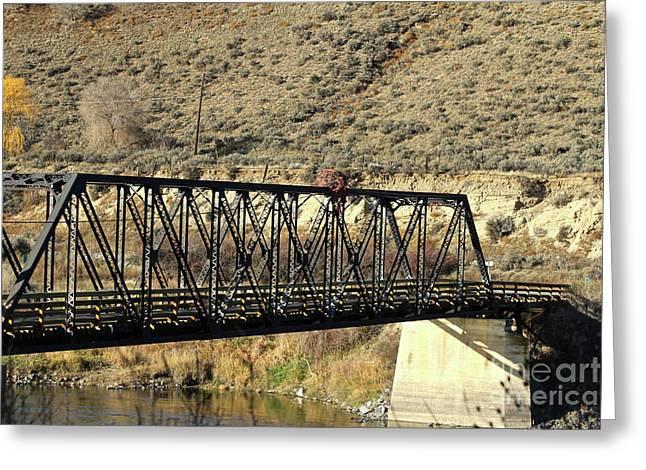 Bridge Over The Thompson Greeting Card