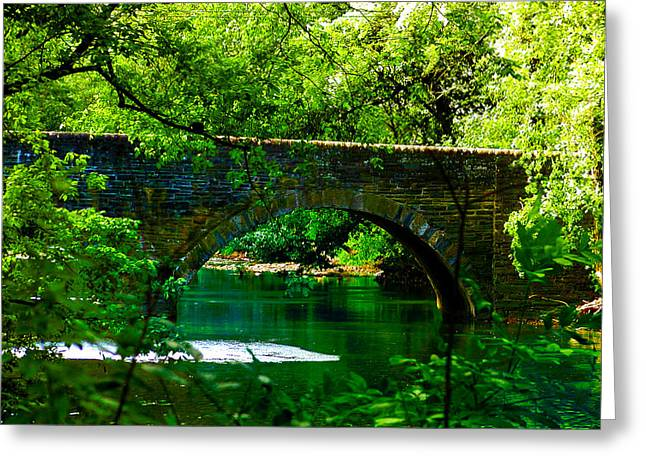 Bridge Over The Wissahickon Greeting Card by Bill Cannon
