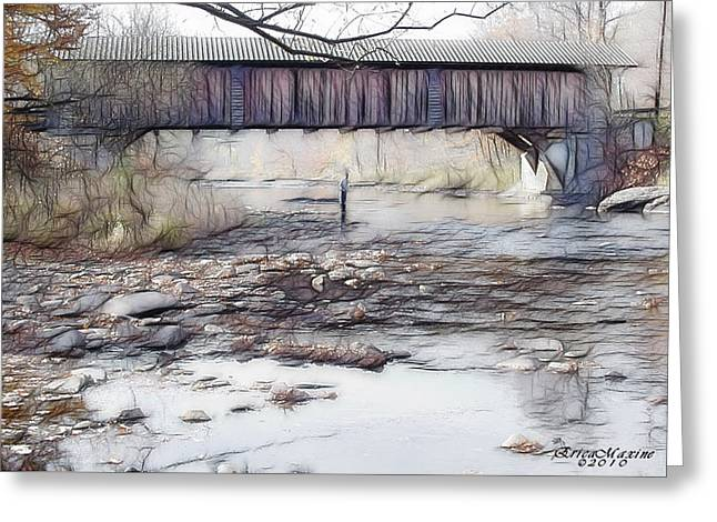 Greeting Card featuring the photograph Bridge Over Troubled Waters by EricaMaxine  Price