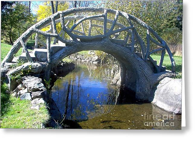 Bridge Park Greeting Card by Emily Kelley