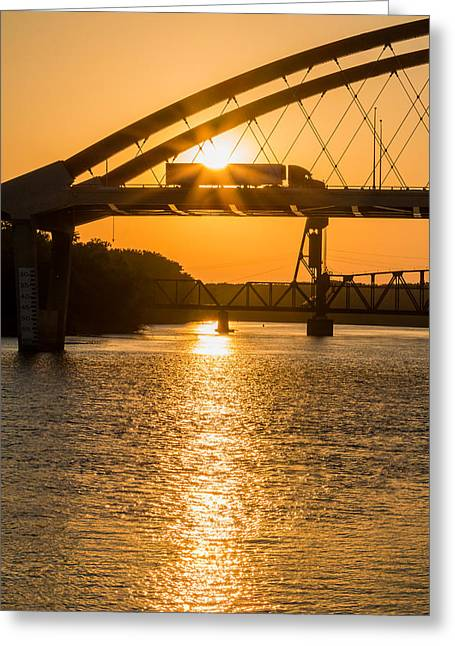 Bridge Sunrise 2 Greeting Card