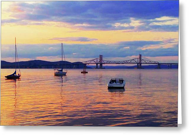 Bridge Sunset Greeting Card