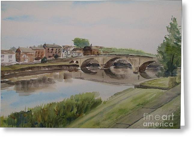 Bridge To Bewdley Greeting Card by Martin Howard
