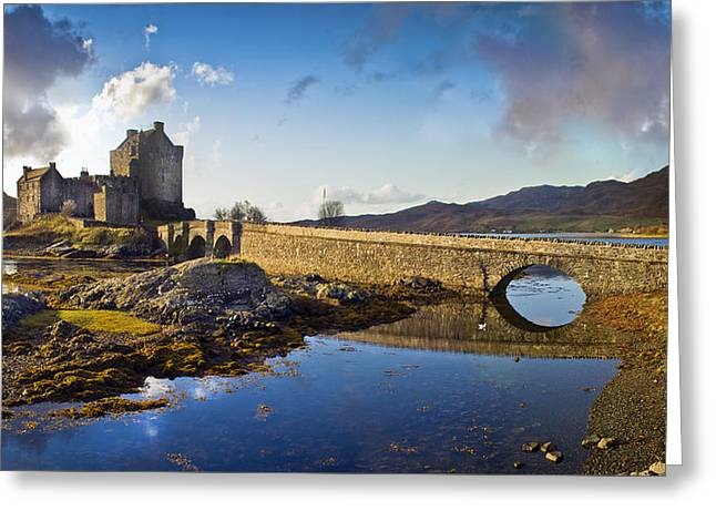 Bridge To Eilean Donan Greeting Card by Gary Eason