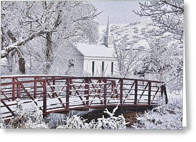 Greeting Card featuring the photograph Bridge To Faith by Diane Alexander