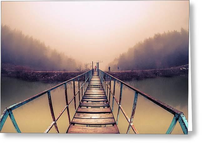 Bridge To Infinity Greeting Card by Okan YILMAZ
