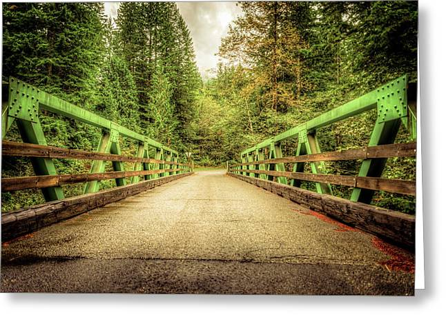 Bridge To National Forest #86 Greeting Card by Spencer McDonald