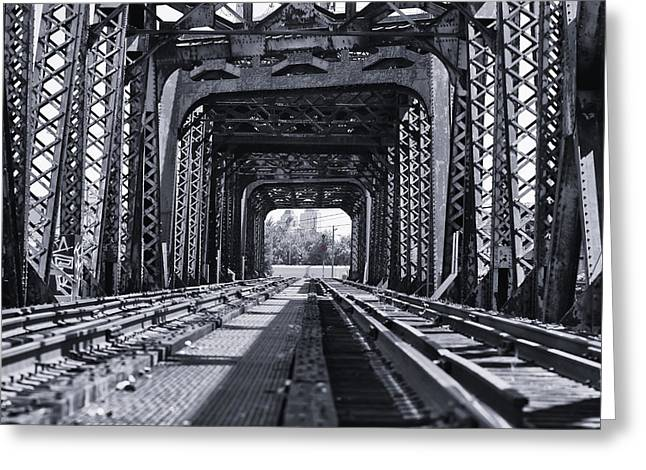 Greeting Card featuring the photograph Bridge To No Where 2 by Louis Dallara