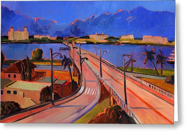 Bridge To Palm Beach Greeting Card