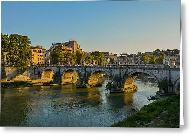 Rome Pyrography Greeting Cards - Bridge to Rome Greeting Card by Kyle Hutchinson