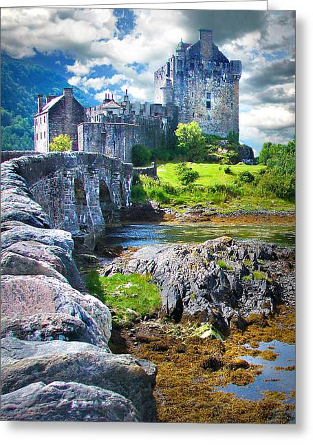 Bridge To The Castle Greeting Card