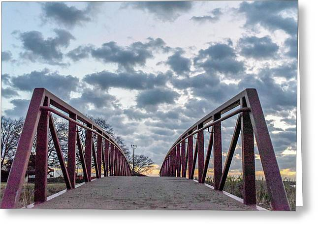 Bridge To The Clouds Greeting Card