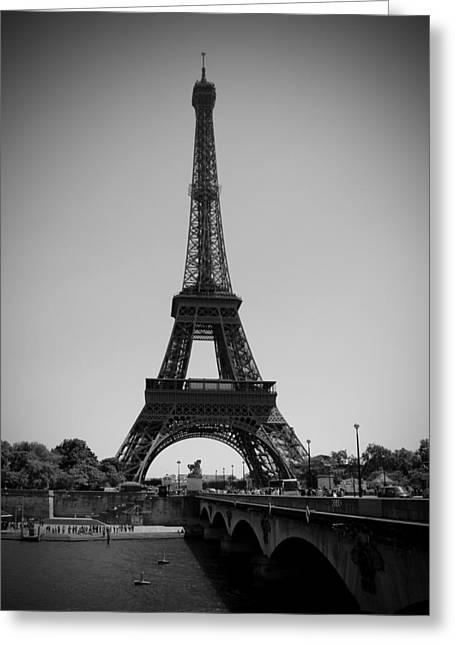Bridge To The Eiffel Tower Greeting Card