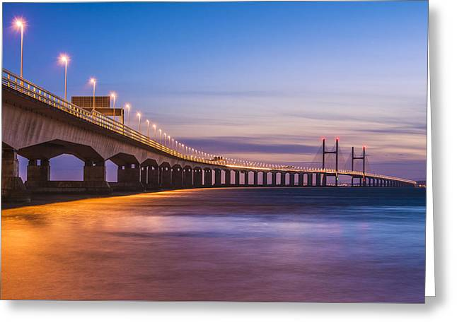Bridge To Wales Greeting Card by William Hole
