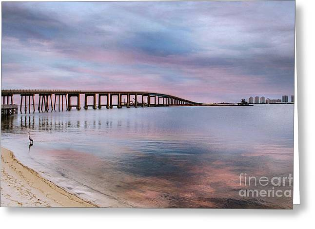 Bridge Under The Sunset Greeting Card