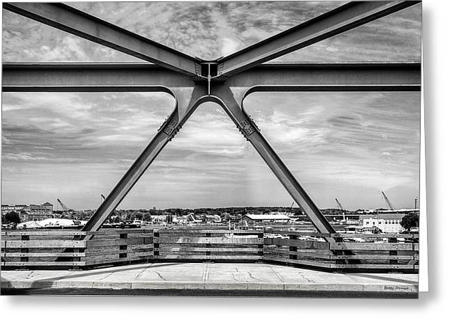 Bridge View In Portsmouth Nh Greeting Card