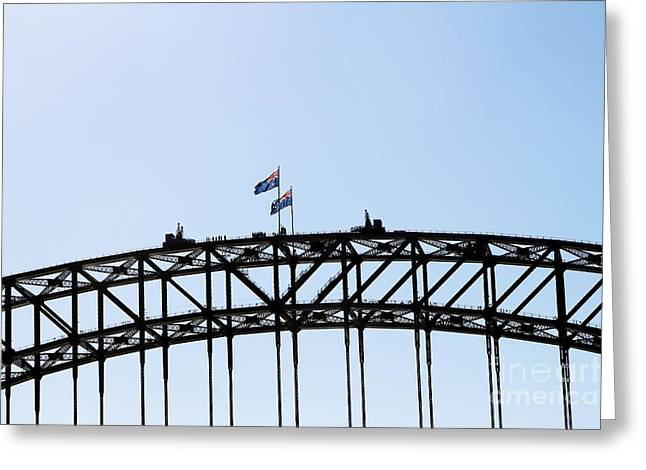 Greeting Card featuring the photograph Bridge Walk by Stephen Mitchell