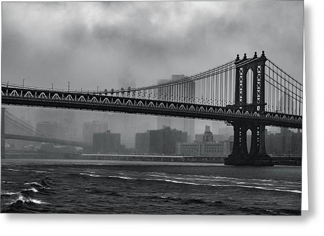 Bridges In The Storm Greeting Card