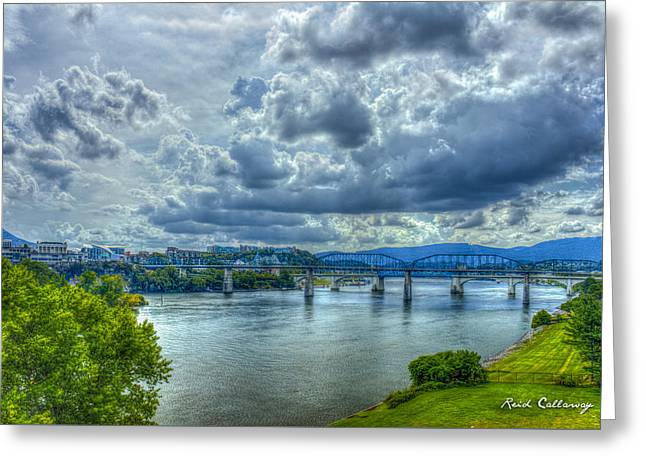 Bridges Of Chattanooga Tennessee Greeting Card by Reid Callaway