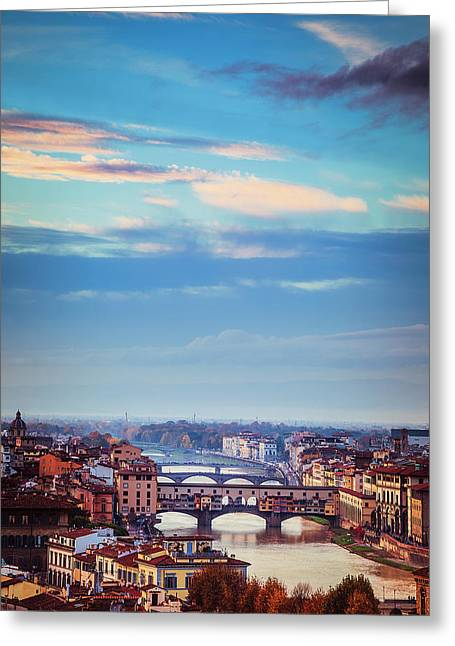 Bridges Of Florence Greeting Card