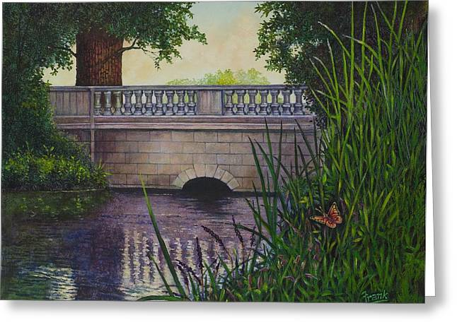 Bridges Of Forest Park II Greeting Card