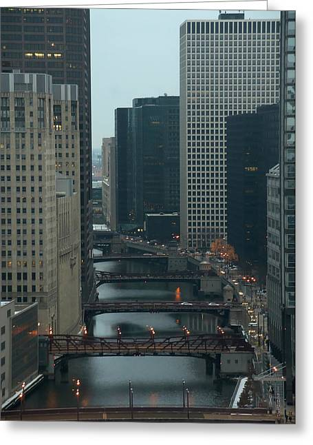 Bridges Over The River Chi Greeting Card by Sheryl Thomas