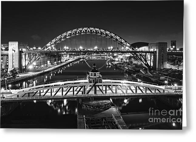 Bridges Over The River Tyne Greeting Card by David Lewins