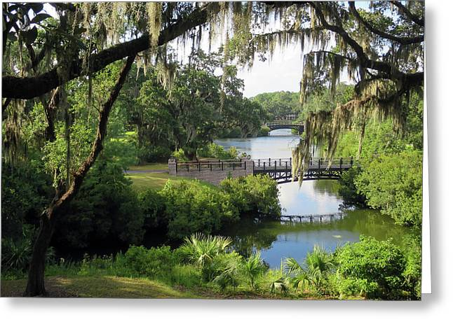 Greeting Card featuring the photograph Bridges Over Tranquil Waters by Rick Locke