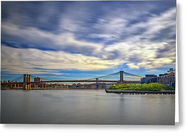 Bridges Greeting Card by Rick Berk