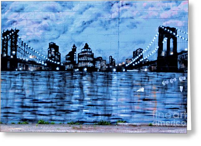 Bridges To New York Greeting Card