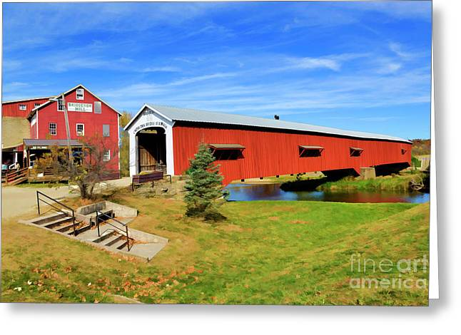 Bridgeton Mill Greeting Card by Larry Dove