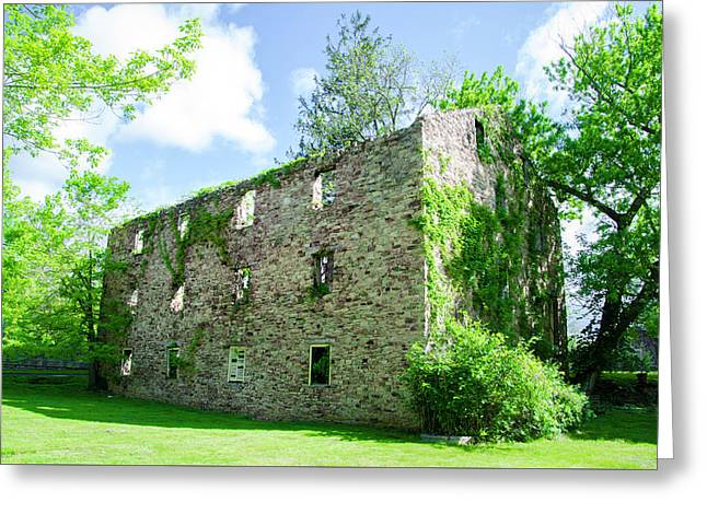 Bridgetown Mill House Ruin - Bucks County Pa Greeting Card