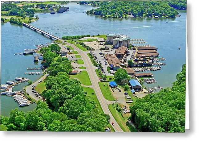 Bridgewater Plaza Aerial Greeting Card