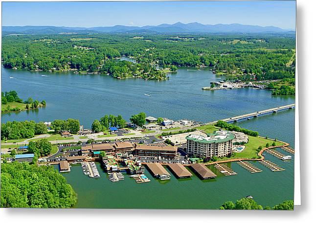 Bridgewater Plaza, Smith Mountain Lake, Virginia Greeting Card