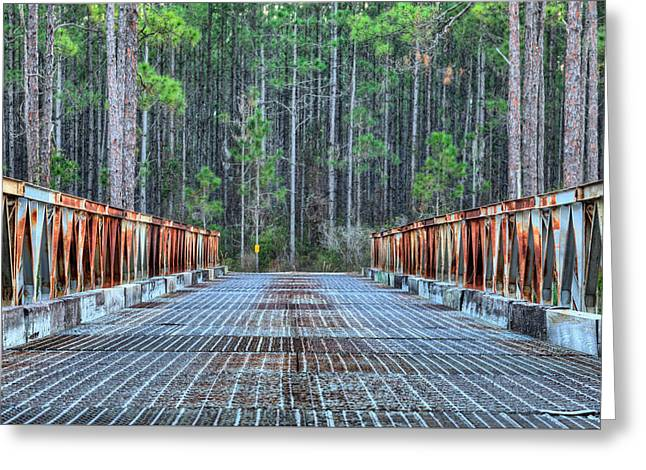 Bridging New River Greeting Card by JC Findley