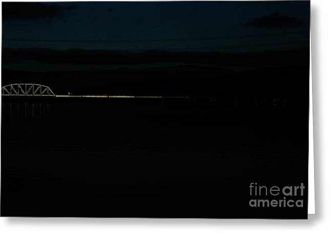 Bridging The Columbia River Greeting Card