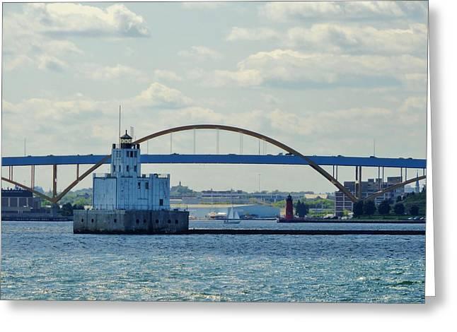 Bridging The Milwaukee Harbor Greeting Card