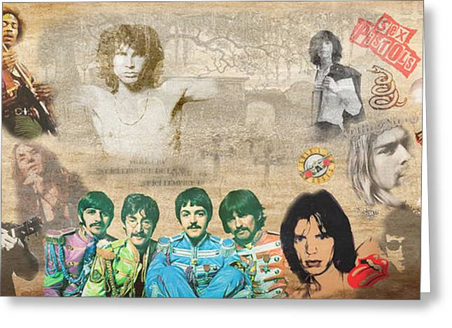 Mick Jagger Poster Greeting Cards - Brief History of RocknRoll Greeting Card by Stephen Walker