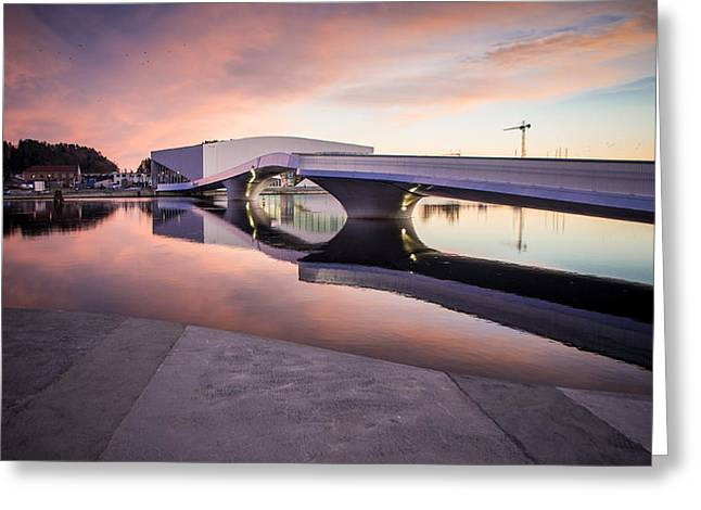 Brigde Over River Greeting Card
