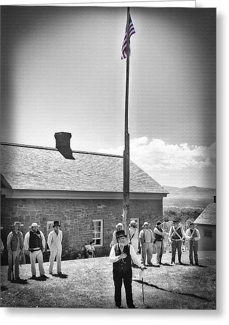Brigham Young Oration - Pioneer Village Re-enactment Greeting Card
