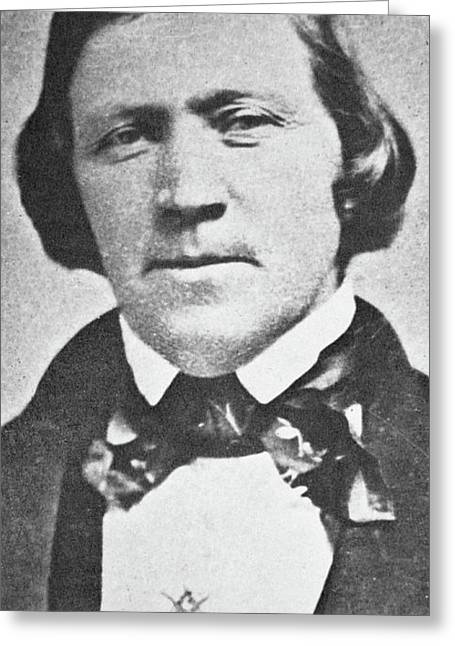 Brigham Young  Second President Of The Mormon Church, Aged 43, 1844 Greeting Card