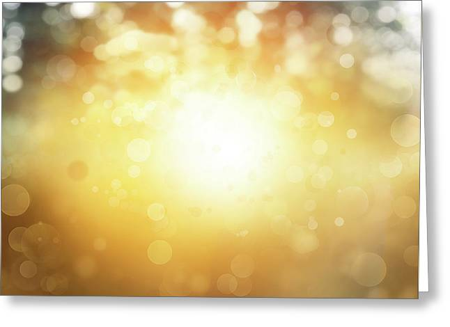 Bright Abstract Blur Greeting Card by Les Cunliffe