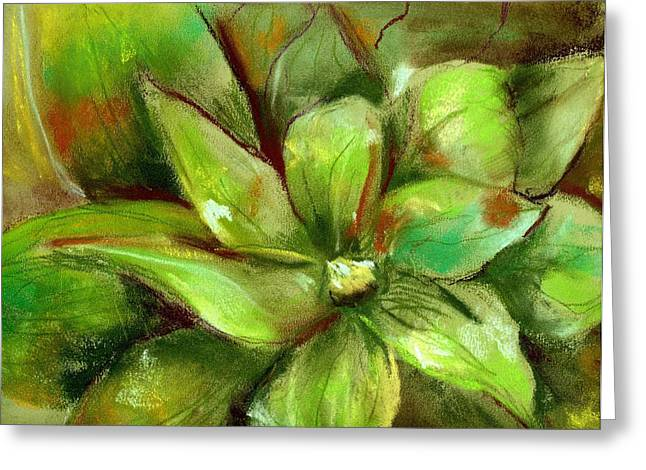 Bright Agave Greeting Card by Marilyn Barton