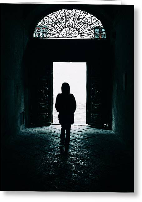 Bright Ancient Doorway Greeting Card