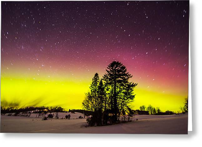 Bright Aurora Greeting Card