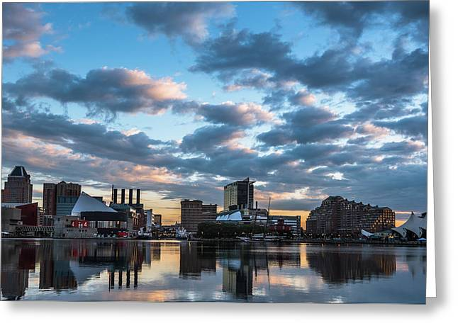 Bright Clouds Over Baltimore Greeting Card by Jim Archer