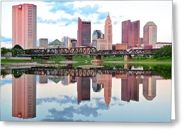 Bright Colorful Columbus Day Greeting Card