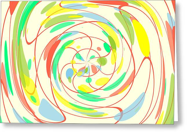 Bright Colors Abstract Greeting Card