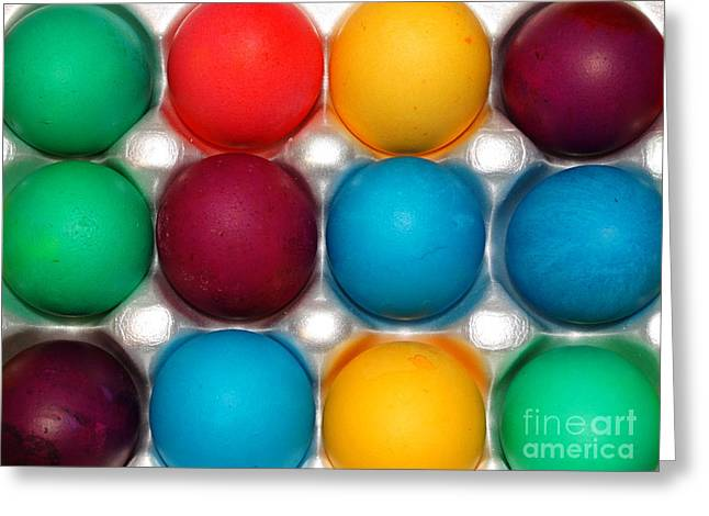Bright Easter Eggs Greeting Card