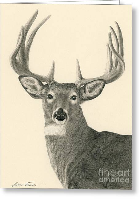 Bright Eyed Buck Greeting Card